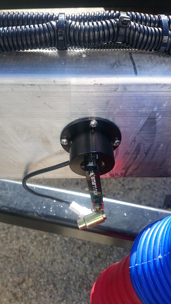 Air Height Sensor Mounted